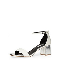 Dorothy Perkins - White flared block heel sandals