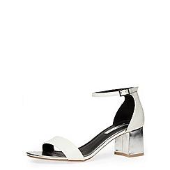 Dorothy Perkins - White flared block heel sandals