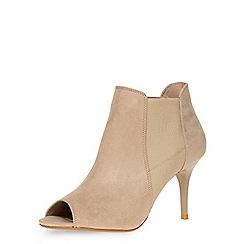 Dorothy Perkins - Sand 'leigh' peep toe boots