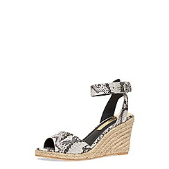 Dorothy Perkins - Grey espadrille wedge sandals
