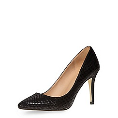 Dorothy Perkins - Black snake pointed courts