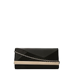 Dorothy Perkins - Black suedette clutch bag