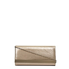 Dorothy Perkins - Gold shimmber clutch bag