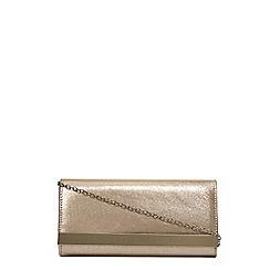 Dorothy Perkins - Gold shimmber clutch bag