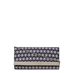 Dorothy Perkins - Blue tile print clutch bag