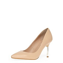 Dorothy Perkins - Nude metal heel pointed court shoes