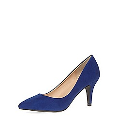 Dorothy Perkins - Cobalt blue mid pointed court shoes