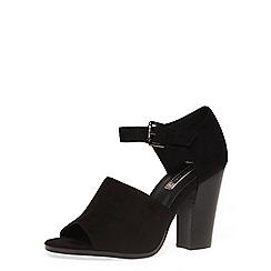 Dorothy Perkins - Black high vamp open sandals