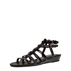 Dorothy Perkins - Black low wedge strap sandals