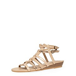 Dorothy Perkins - Nude low wedge strap sandals