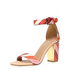 Dorothy Perkins - Pink stripe metal heel sandals