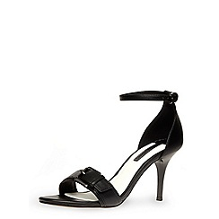 Dorothy Perkins - Black buckle strap detailed mid sandals with ankle straps