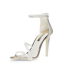 Dorothy Perkins - White tube minimal sandals