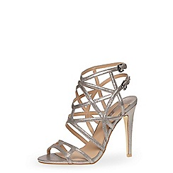 Dorothy Perkins - Metallic pewter cage strappy high sandals