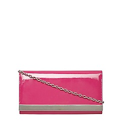 Dorothy Perkins - Fuchsia pink patent clutch bag
