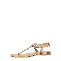 Dorothy Perkins - Nude leather t-bar sandals