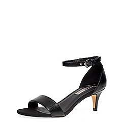 Dorothy Perkins - Black low heel minimal sandals