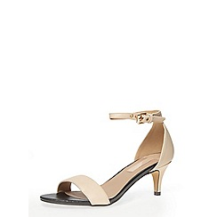 Dorothy Perkins - Nude low heel minimal sandals