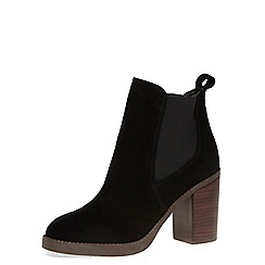 Dorothy Perkins - Black leather heeled boots