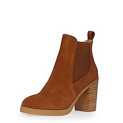 Dorothy Perkins - Tan leather heeled boots