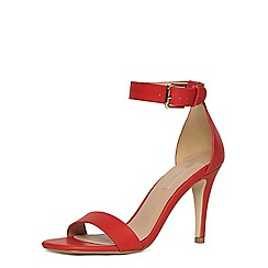 Dorothy Perkins - Red minimal ankle strap sandals