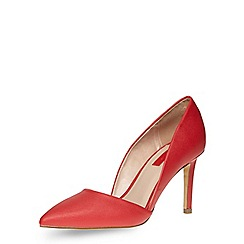 Dorothy Perkins - Red two part pointed courts shoes