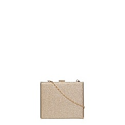 Dorothy Perkins - Gold glitter blitz bag