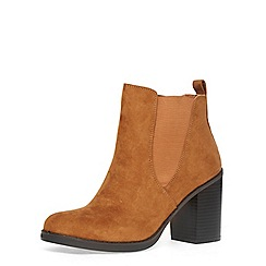 Dorothy Perkins - Tan 'lateo' block heel boots