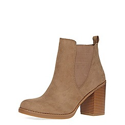 Dorothy Perkins - Taupe 'lateo' block heel boots