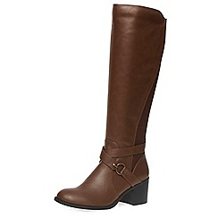 Dorothy Perkins - Chocolate 'koko' knee boots
