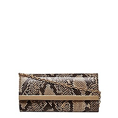 Dorothy Perkins - Coloured snake clutch bag