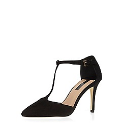 Dorothy Perkins - Black t-bar pointed courts