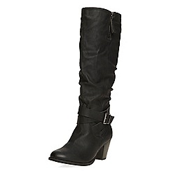 Dorothy Perkins - Black 'texan' knee boots