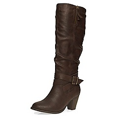 Dorothy Perkins - Chocolate texan knee boots