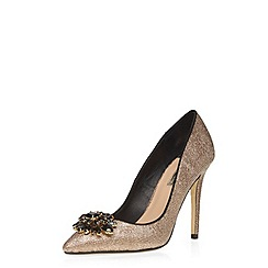 Dorothy Perkins - Gold 'frost' lace courts