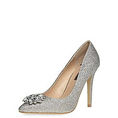 Dorothy Perkins - Silver fliss court shoes