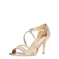 Dorothy Perkins - Gold glitter 'blitz' sandals