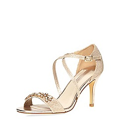 Dorothy Perkins - Gold 'bliss' sandals