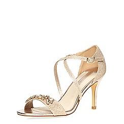 Dorothy Perkins - Gold 'bliss' sandals