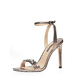 Dorothy Perkins - Pewter 'star' high sandals