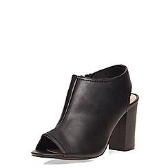 Dorothy Perkins - Black 'sofia' peep sling back heels
