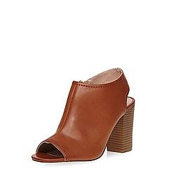 Dorothy Perkins - Tan 'sofia' peep sling back heels