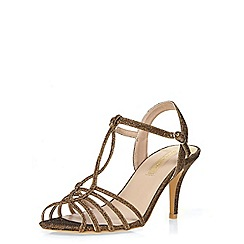 Dorothy Perkins - Gold 'bailey' sandals