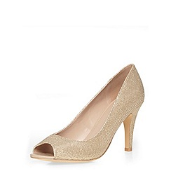 Dorothy Perkins - Gold 'dixy' courts