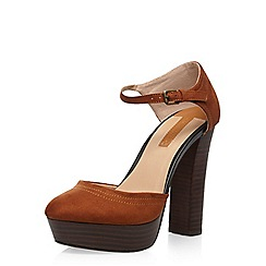 Dorothy Perkins - Brown 'gracie' platform courts