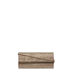 Dorothy Perkins - Gold 'brit' clutch bag