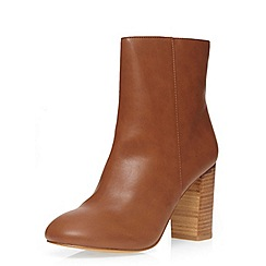 Dorothy Perkins - Tan 'loop' 70's heeled boots