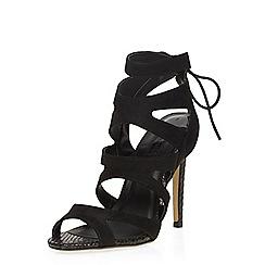 Dorothy Perkins - Black 'single' caged sandals