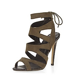 Dorothy Perkins - Khaki 'single' caged sandals