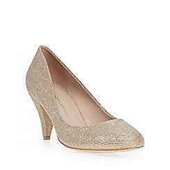 Dorothy Perkins - Gold glitter 'cava' courts